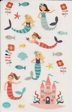 Mrs. Grossman's Giant Stickers - Merry Mermaids - Sand Castle, Fish - 2 Strips