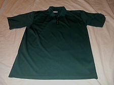 Men's COLUMBIA Short Sleeve Zip Front Polo Shirt Sz Large L 100% Polyester