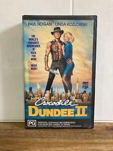 CROCODILE DUNDEE II (2) - VHS - Paul Hogan - Rare Vintage Collectable Big Box