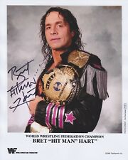 Bret 'The Hitman' Hart HAND Signed 8x10 Photo, Autograph Wrestler WWE, WWF WCW B