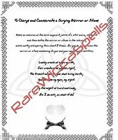 Charge & Consecrate Scrying Mirror Wicca Book of Shadows Pagan Occult Spell