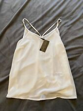 New Look White Chiffon Strappy Summer Top Vest Top Size 10 BNWT