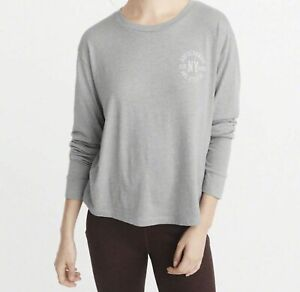 Abercrombie & Fitch - ACTIVE Long Sleeve Logo T-Shirt, Grey - RRP £30.00