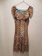Bluemarine Multi-Color Animal Print Silk Chiffon Dress Size XS