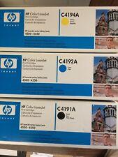 HP Color LaserJet Printer Series 4500/4550 Yellow, Black and Cyan (2 of each)