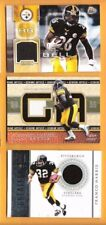 LE'VEON BELL FRANCO HARRIS JEROME BETTIS 3 GAME USED JERSEY CARD STEELERS