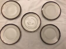 Set Of 5 Antique Imperial Russian Gardner Factory Bread And Butter Plates