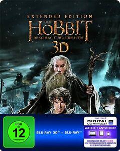 Der Hobbit: Die Schlacht der fünf Heere -  Extended Edition Steelbook 3D Blu-Ray