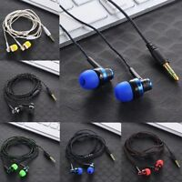 Braided Rope Wire Cloth Rope Headsets Noise Isolating  Subwoofer Earphone