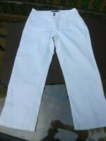 NYDJ Not Your Daughters Jeans Crop Capri Stretch Jeans in White - Sz 6