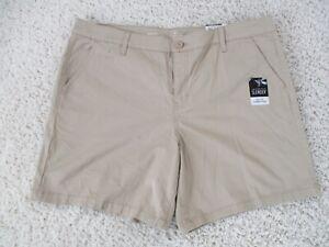 St Johns Bay Shorts Womens Size 18 Khaki Chino New NWT
