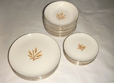26 PIECE TAYLOR SMITH TAYLOR GOLDEN WHEAT VERSATILE CHINA PORCELAIN GOLD TRIM