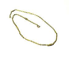 Bijou plaqué or 18 carats collier chaine fermoir bouée longieur 42 cm