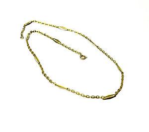 Bijou plaqué or 18 carats collier chaine fermoir bouée longueur 42 cm