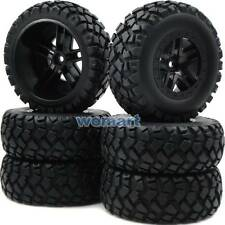 6pcs RC 2.2/3.0 Short Course Tires Wheels For 1/10 Traxxas Slash 4x4 Rally Car