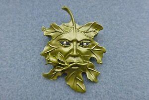 Green Man Brooch, Greenman, Forest Spirit, Nature Spirit. Pagan Druid Wiccan