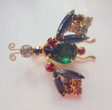 Vtg Like Juliana Bee Bug Butterfly Dragonfly Insect Articulate Pin Brooch