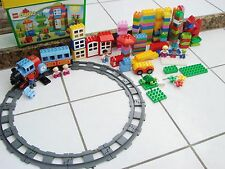 Lego duplo battery operated train w/ track lot & 165 pieces minifigures 10580