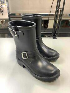 Women's Michael Kors Black Rubber Boots Size 8