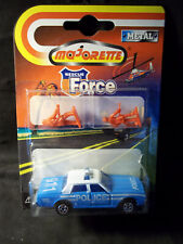 MAJORETTE-1981/85 CHEVY IMPALA POLICE CAR,GLOSS BLUE/WHITE W/BLUE INTERIOR-1997