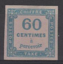 "FRANCE STAMP TIMBRE TAXE N° 9 "" CHIFFRE TAXE 60c BLEU "" NEUF x TTB N177"