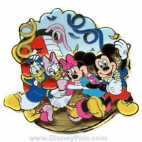 Disney Pin 60904 DCL Sail Away Cruise Conga Party Mickey Minnie Donald Daisy HTF