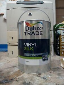 Dulux Trade Vinyl Silk White 5L