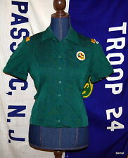 VINTAGE GIRL SCOUT - SENIOR GIRL SCOUT UNIFORM BLOUSE WITH PATCHES