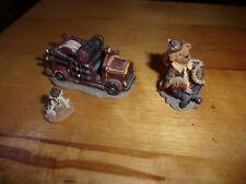 3 piece Boyd's town village miniatures Hoser Omalley; Engine Btfd, Buddy Good bo