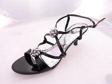 Sweet Seventeen Stiletto Women Heels Sandal Black cross strap Size 10M