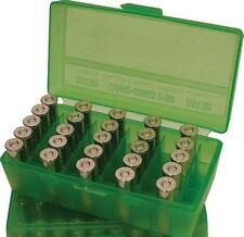 MTM Case-Gard Flip Top Handgun Ammunition Ammo Storage Box 50 Round P50-44 Green
