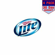 Miller Lite Beer  4 Stickers 4x4 Inches Sticker Decal