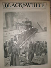 Esercito Britannico Benin vincolati da Charles M Sheldon 1897 Old Print ref L