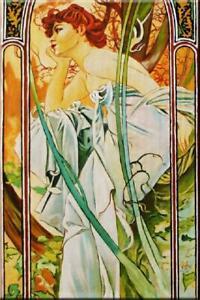 Alfons Mucha Ölbild Gemälde Leinwand Ölbild Bild inkls. Keilrahmen Bilder G15856