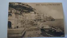 Vintage Postcard - Amalfi  Panorama Con L'hotel Marine   B&W 1920's Dipini