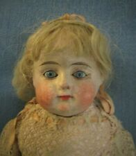 Beautiful Paper-mache Shoulder Head Doll - 18 Inch