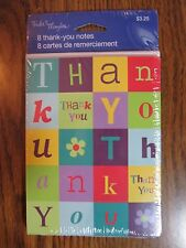 Thank You Notes/Envelopes~Pack of 8~Tender Thoughts by American Greetings~New!
