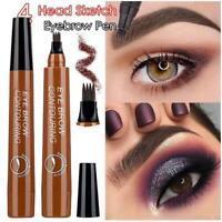 New 5 Colors Eye Brow Contouring Liquid Tattoo Pen 4Head Sketch Dye Tint Pencil~