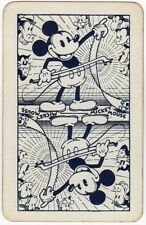 Playing Cards 1 Single Swap Card - Old Vintage DISNEY MICKEY MOUSE Musical Saw