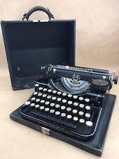 Underwood Standard 4-Bank Portable Typewriter 1929 all Black 4B49131-Very Clean