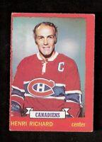 1973-74 OPC O-Pee-Chee HENRI RICHARD #87 VG-EX Hockey Montreal Canadiens