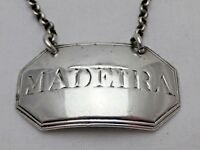 Georgian Antique Solid Silver Madeira Ticket Wine Label 1791 (1075-B-KSY)