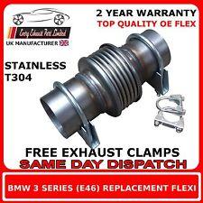 Bmw 3 série 320d 318d E46 convertisseur catalytique flexi échappement réparation tuyau flexible.