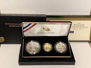 2019 American Legion 100th Anniversary Commemorative Coin Set W/ OGP
