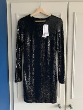 French Connection Black Sequin Dress Size 12