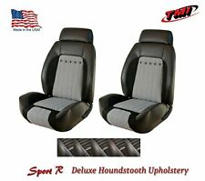 Sport R Deluxe Houndstooth Front/Rear Upholstery for 1970 Camaro -TMI Products