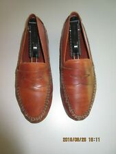 BALLY (Paso)  Driving Shoes Sz 7 M (40) Tan Leather Slip-on Loafers Shoes