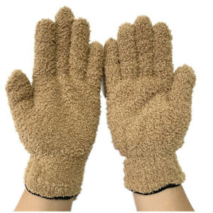 Microfiber Dusting Cleaning Gloves Mitts For Cars House Blinds Windows Lamps