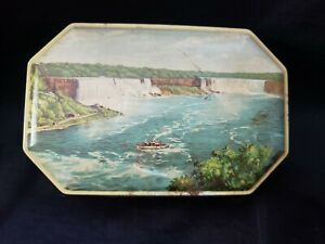 Vintage/Antique Tom Fillery Toffee Tin Niagara American and Canadian Falls
