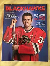 2011-12 Dave Bolland SIGNED Chicago BLACKHAWKS Magazine Program